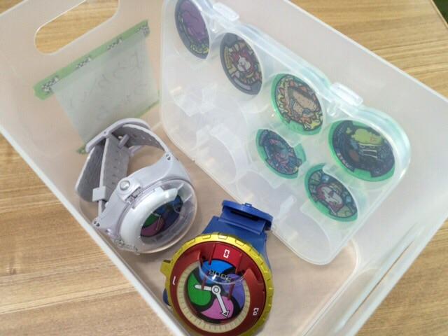 妖怪ウォッチ メダル収納 無印良品 セリアseria 100均 100円ショップ 子供 片付け
