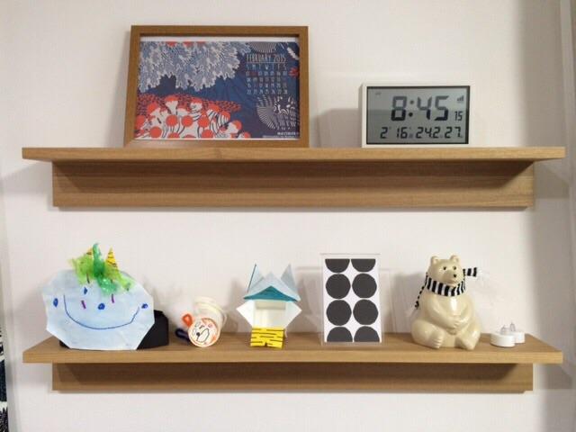 無印良品 壁に付けられる家具・棚・幅88cm 飾り棚ディスプレイ MK Tresmer(エムケー トレスマー) Polar Bear Money Box マフラー付き 節分 マリメッコmarimekk