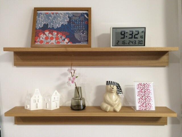 無印良品 壁に付けられる家具・棚・幅88cm 飾り棚ディスプレイ MK Tresmer(エムケー トレスマー) Polar Bear Money Box Holmegaard Flora ベース 12