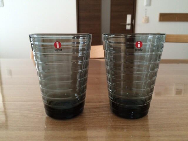 iittala イッタラ グラス AINO AALTO(アイノアールト) 330ml 2個セット ハイボール ペア タンブラー グラス グレー