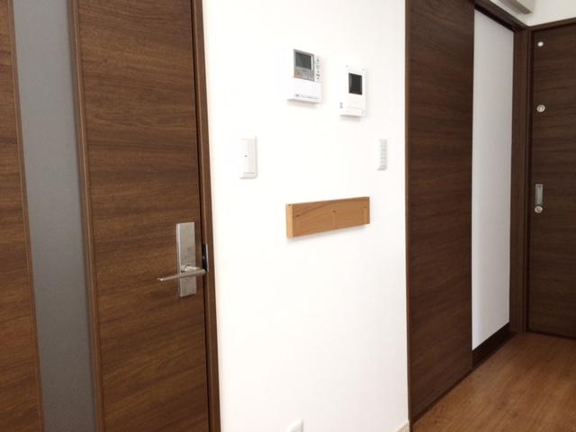 無印良品 壁に付けられる家具・3連ハンガー・タモ材/ナチュラル幅44cm 通園カバン掛け