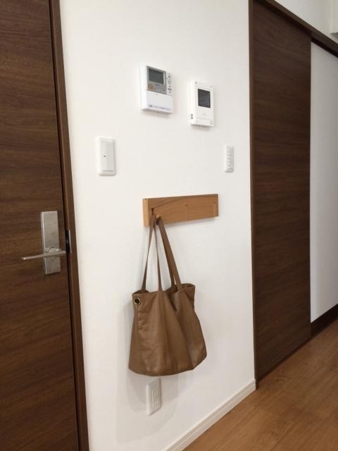無印良品 壁に付けられる家具・3連ハンガー・タモ材/ナチュラル幅44cm