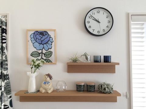 リビング ディスプレイスペース 無印良品 壁に付けられる家具・棚 北欧雑貨 ディスプレイ マリメッコ イッタラ kivi リサラーソン ワードローブ