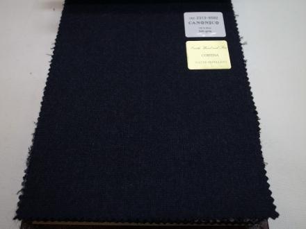 カノニコの撥水加工コート生地コルティナオーダーコート用紺
