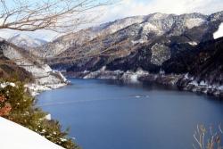 1月4日奥木曽湖