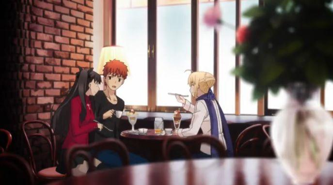 12 士郎 凛 セイバー カフェにて