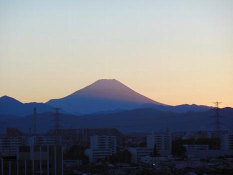 夕映え富士1
