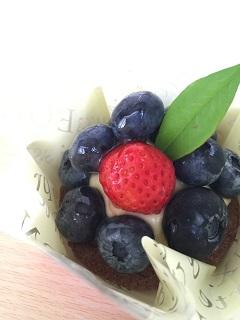 洋菓子 鶴浜屋 青柳店 ブルーベリーのタルト