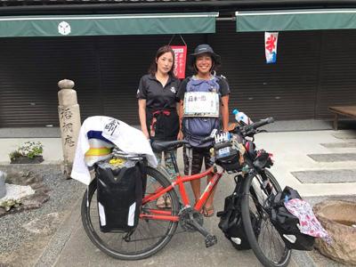 自転車日本一周の女の子1