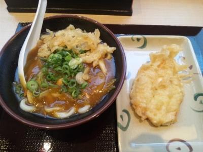 141216さぬき麺業本町店カレーうどん(並)390円