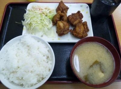 20150112もとや食堂南店唐揚げ定食380円