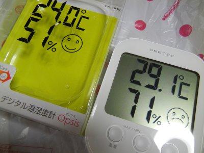 デジタル温・湿度計