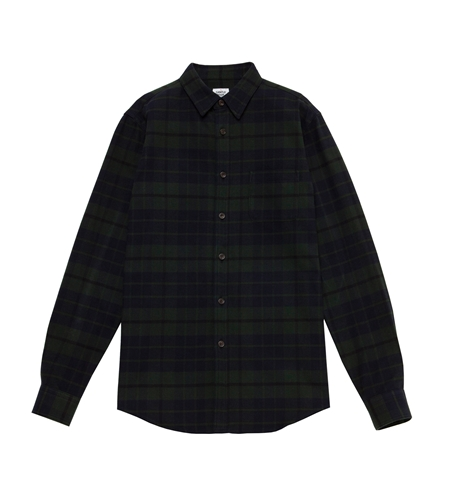 SH22 FLANNEL CHECK LS SHIRTS MOSS_R
