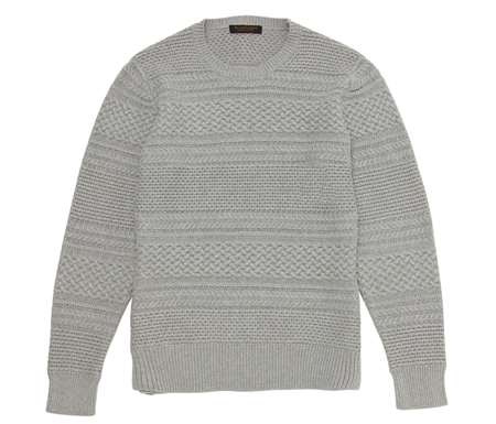KN02 CABLE BORDER KNIT GREY_R