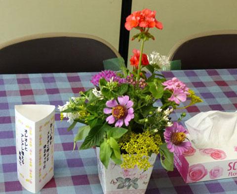 A21テーブル花