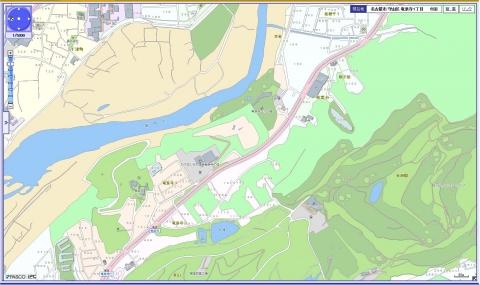 名古屋市都市計画H22案内図