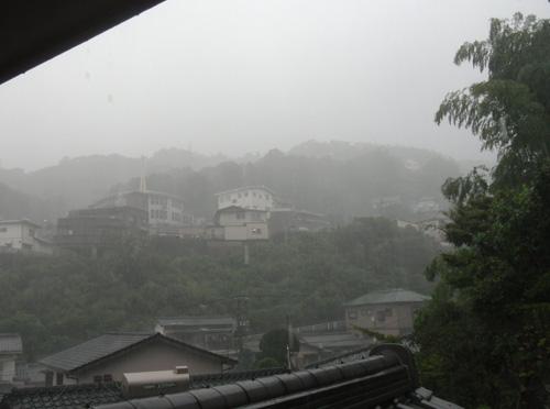 かなりひどい雨でした。