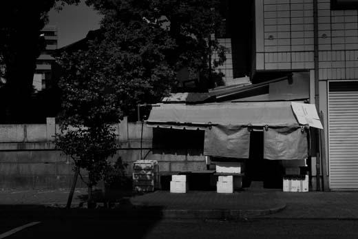 名古屋中村区開店前の商店