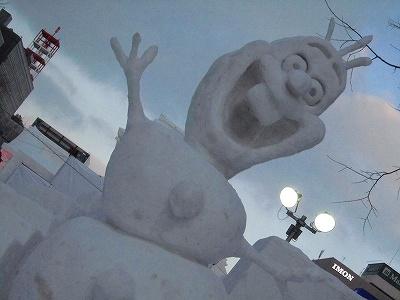 雪祭りオラフ