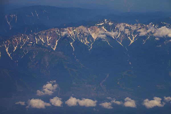 白馬岳周辺の残雪