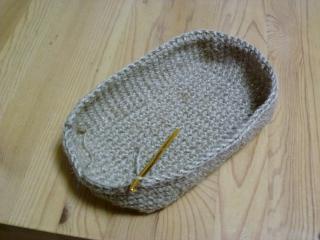 麻ひもバッグ・編み方1