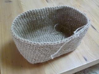 麻ひもバッグ・編み方2