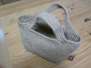 麻ひもバッグ・編み方3