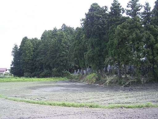 亀ヶ森古墳前方部側より