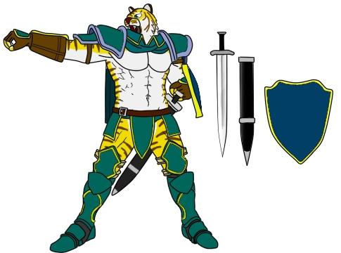 虎聖騎士装備全身図 前