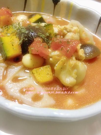 チキンと大豆のトマト煮込みスープ♪