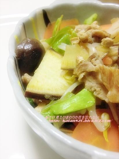 豚肉とたっぷり野菜の蒸し煮♪