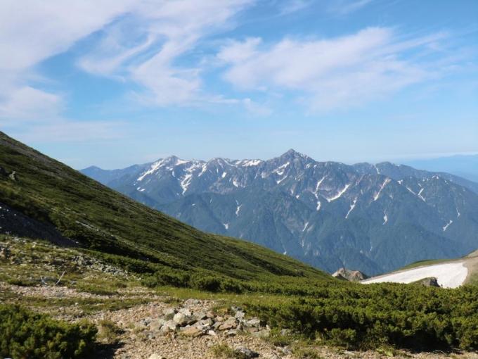 剣岳、立山が見えてくる