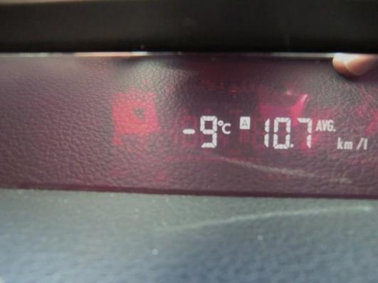 到着時、マイナス9℃