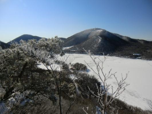地蔵岳も霧氷が