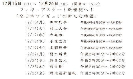 25日町田樹、26日男子公式練習など現地最新情報は関テレも放送