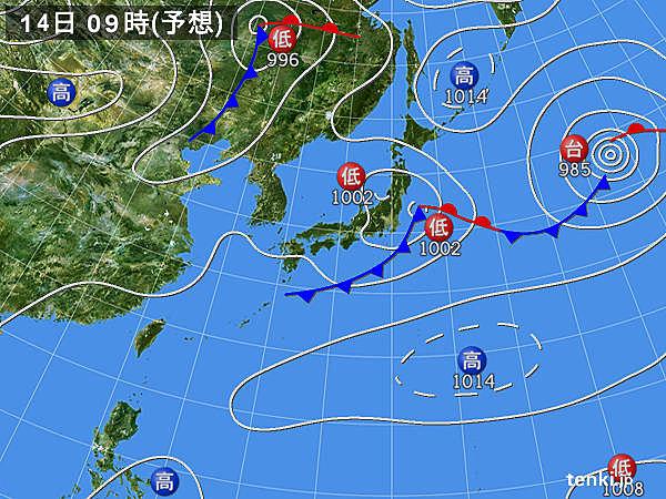 14日天気図