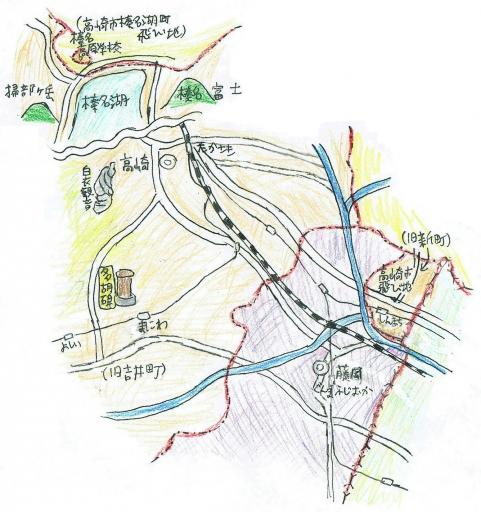 高崎市の飛び地と多胡碑周辺