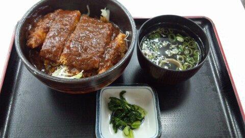 吉備SAデミカツ丼 (1)