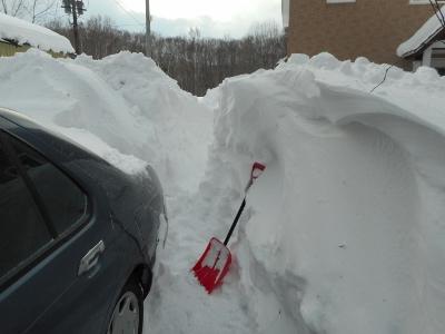 暴風雪は終わったが、、