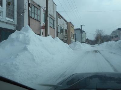 地吹雪残る弟子屈町