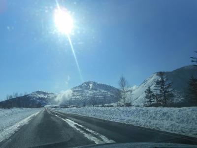 冬の快晴の硫黄山