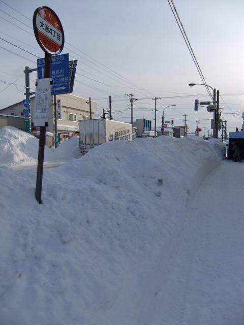 雪国の街角