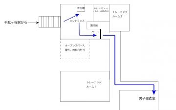 _東京体育館 東体平面図 エントランス