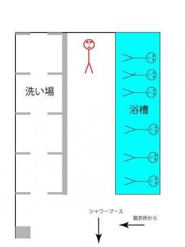 東京体育館 風呂 平面図 様子