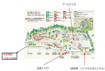 参宮橋 プール 競パン的利用方法 絵地図
