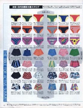 水着の種類 ファッション 競パン ビキニ
