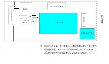 コズミックスポーツセンター-プール平面図