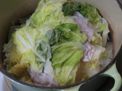 豚と白菜の重ね蒸し