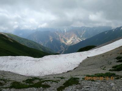 (10)槍ヶ岳と手前の硫黄岳_1