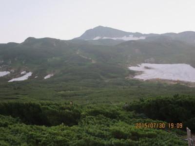 (27)三俣山荘より三俣蓮華岳_1
